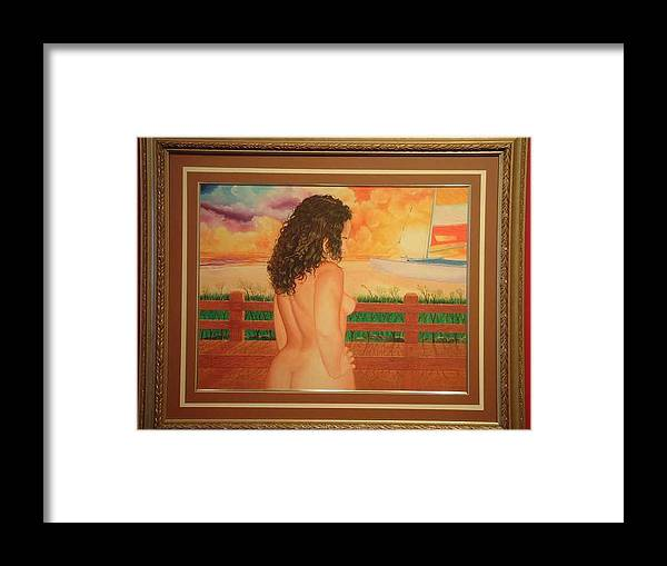 Nudes Framed Print featuring the painting Florida Dreams by Benito Alonso