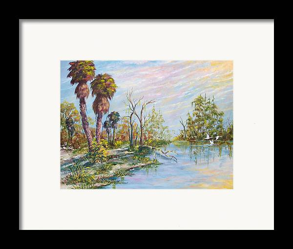 Landscape Framed Print featuring the painting Florida Forgotten by Dennis Vebert
