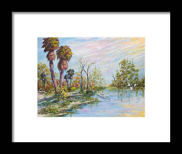 Landscape Framed Print featuring the painting Florida Forgotten by Dennis Vebert