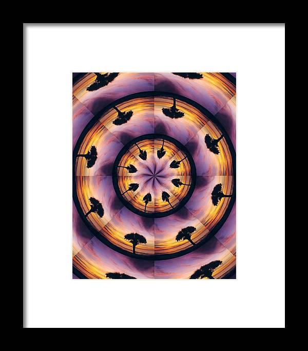 Kaliedoscope Framed Print featuring the digital art Florida Fun by Peg Urban