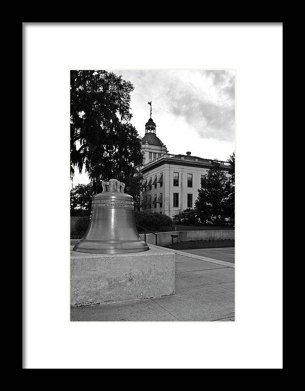 Black And White Photography Framed Print featuring the photograph Florida's Old Capitol Building by Wayne Denmark