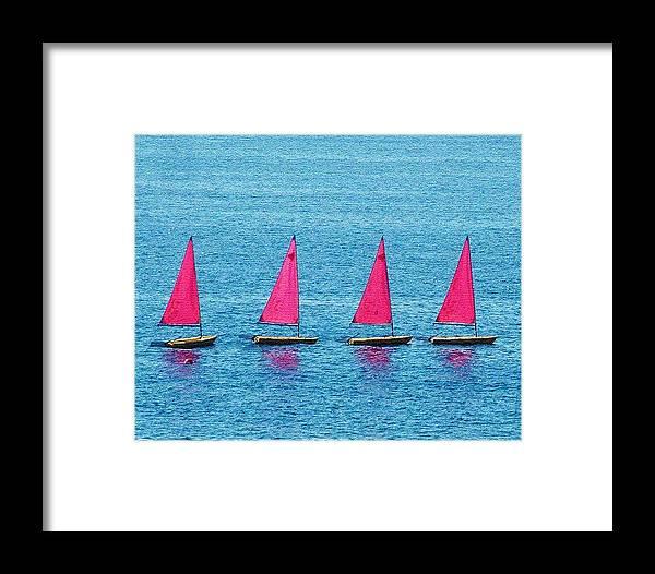 Sailing Boats Spain Framed Print featuring the photograph Flotilla by John Bradburn