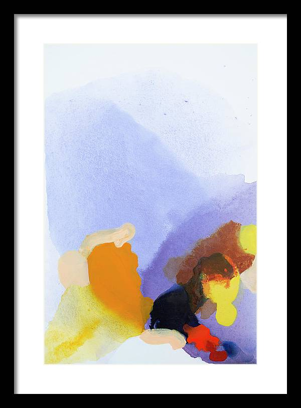 Abstract Framed Print featuring the painting Flow Release by Claire Desjardins