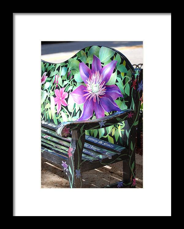 Macro Framed Print featuring the photograph Flower Bench by Rob Hans
