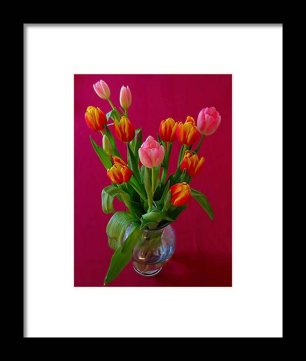 Still Life Framed Print featuring the photograph Flower Bouquet by Juergen Roth
