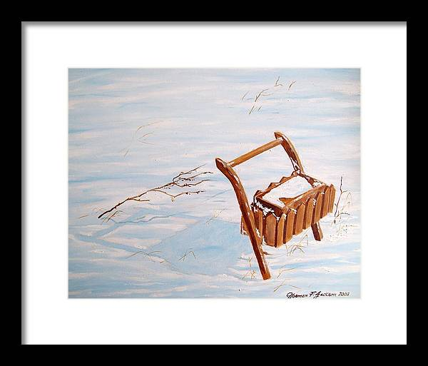 Snow Framed Print featuring the painting Flower Box by Norman F Jackson