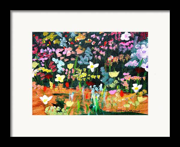 Flowers Framed Print featuring the painting Flower Detail by Jeff Caturano
