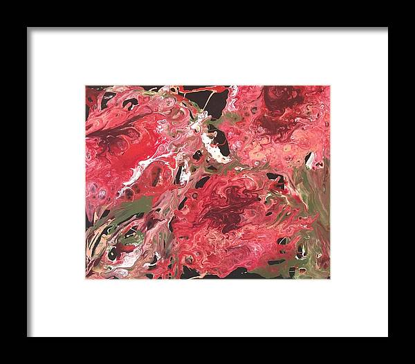 Abstract Flowers Flower Whimsical Framed Print featuring the painting Flower Explosion by Keri Darlington