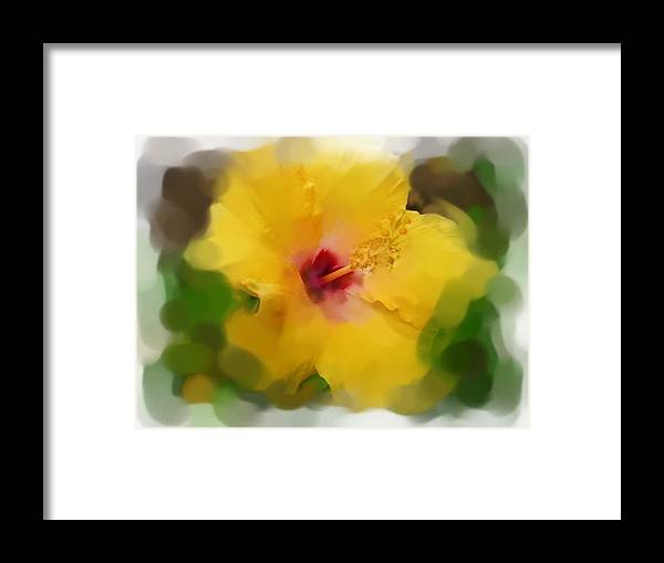 Flower Framed Print featuring the painting Flower For You by Jonathan Galente
