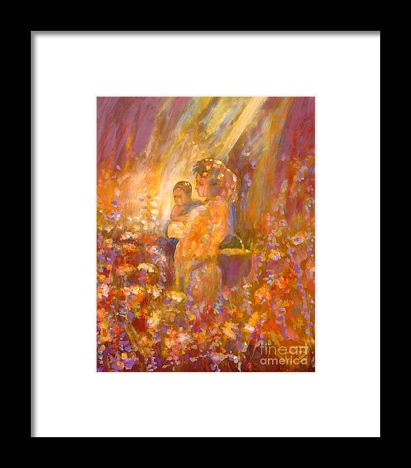 Flowers Framed Print featuring the painting Flower Fragrance by Kip Decker