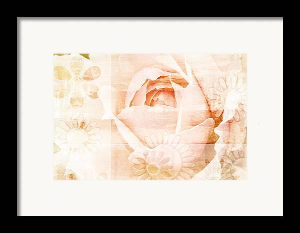 Flower Framed Print featuring the painting Flower Garden by Frank Tschakert