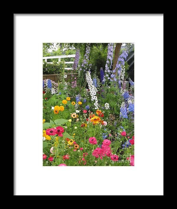 Flower Garden Framed Print featuring the photograph Garden Delight by Marta Robin Gaughen