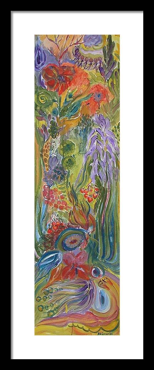 Acrylic Framed Print featuring the painting Flower Garden by Rita Fetisov