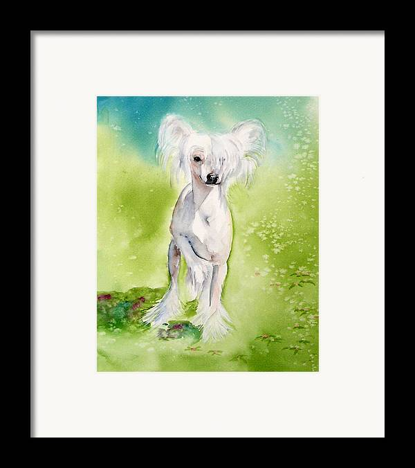 Canine Framed Print featuring the painting Flower by Gina Hall