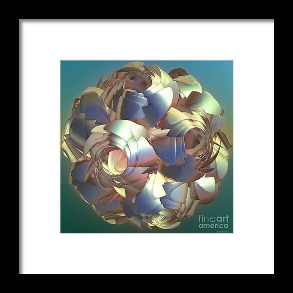 Digital Framed Print featuring the digital art Flower Globe by Deborah Benoit