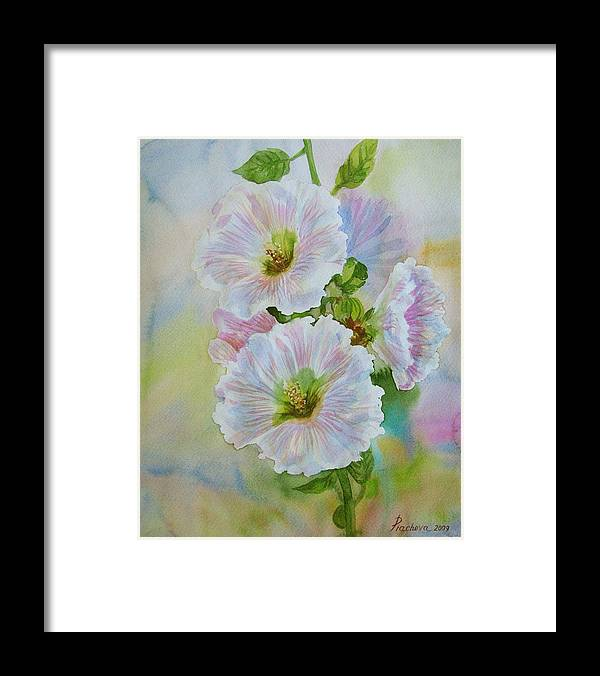 Flower Framed Print featuring the painting Flower In Summer. by Natalia Piacheva