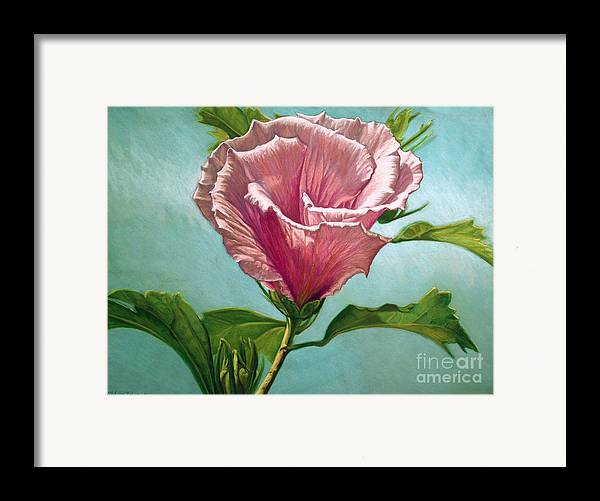 Botanical Framed Print featuring the painting Flower In The Sky by Melissa Tobia