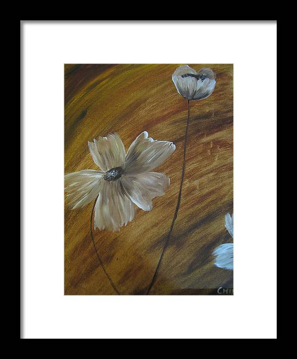 Abstract Framed Print featuring the painting Flower In The Woods by Pooja Dipanker