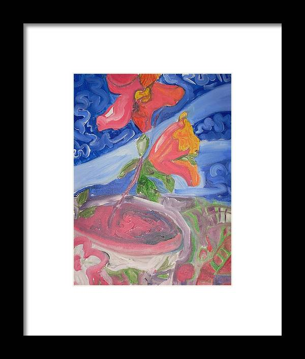 Framed Print featuring the painting Flower by Joseph Arico