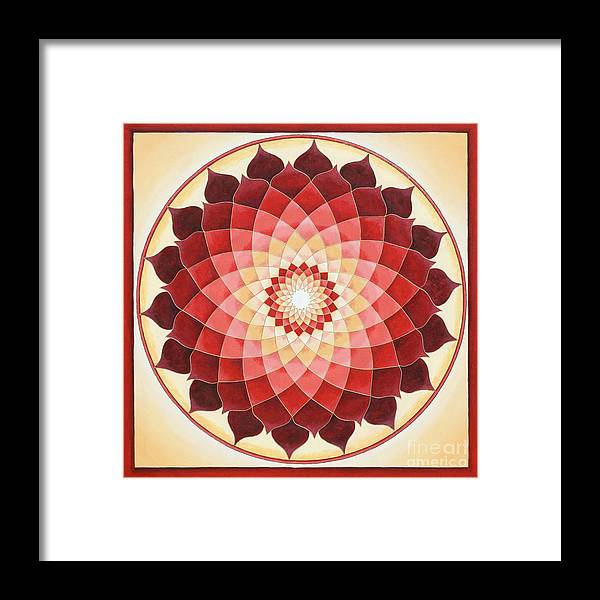 Mandala Framed Print featuring the painting Flower Of Life by Charlotte Backman
