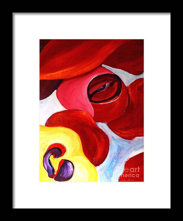 Abstract Framed Print featuring the painting Flower Of Life by Maya Green