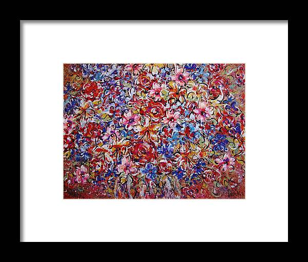 Flowers Framed Print featuring the painting Flower Passion by Natalie Holland