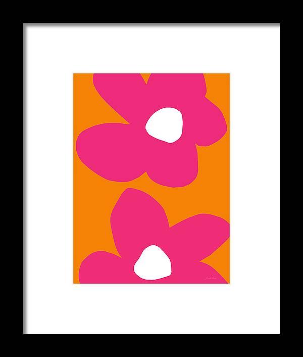 Flower Framed Print featuring the digital art Flower Power 2- Art by Linda Woods by Linda Woods