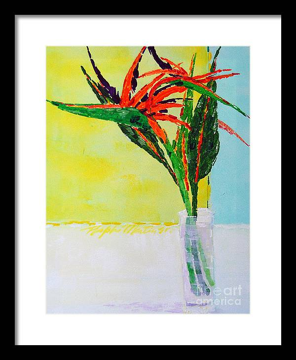 Flowers Framed Print featuring the painting Flower Power by Art Mantia