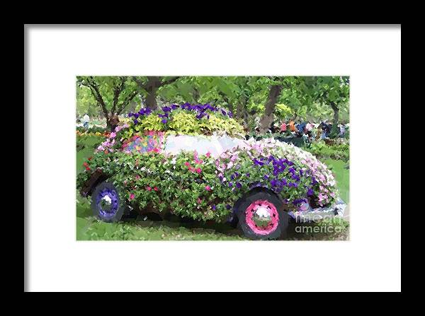 Cars Framed Print featuring the photograph Flower Power by Debbi Granruth