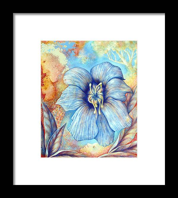 Flower Framed Print featuring the painting Flower Power by Hiske Tas Bain