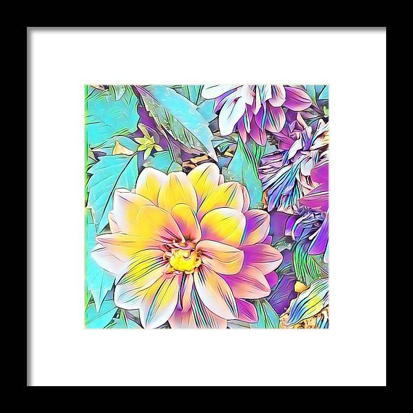 Flowers Power Framed Print featuring the drawing Flower Power by Nicholas Small