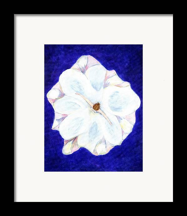 Abstract Framed Print featuring the painting Flower Princess - Www.jennifer-d-art.com by Jennifer Skalecke