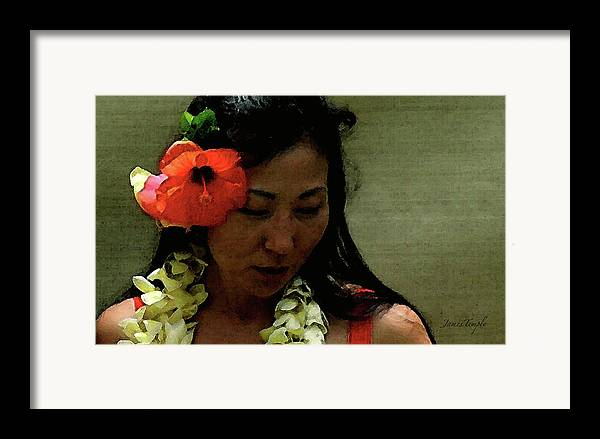 Hula Framed Print featuring the photograph Flower Sign by James Temple
