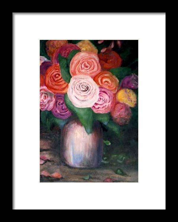 Flowers Framed Print featuring the painting Flower Spirals by Jordana Sands
