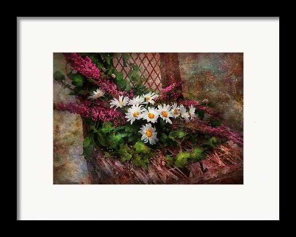 Suburbanscenes Framed Print featuring the digital art Flower - Still - Seat Reserved by Mike Savad