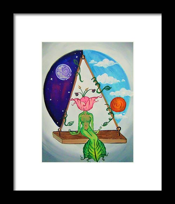 Flower Framed Print featuring the painting Flowered Out by Kayanna South