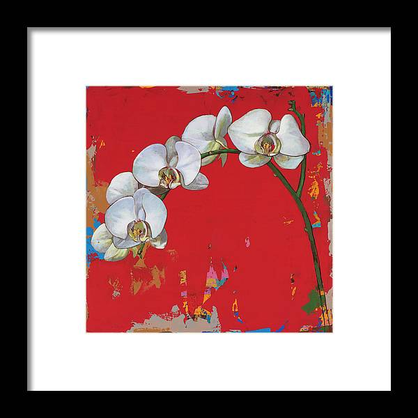 Flower Framed Print featuring the painting Flowers #14 by David Palmer