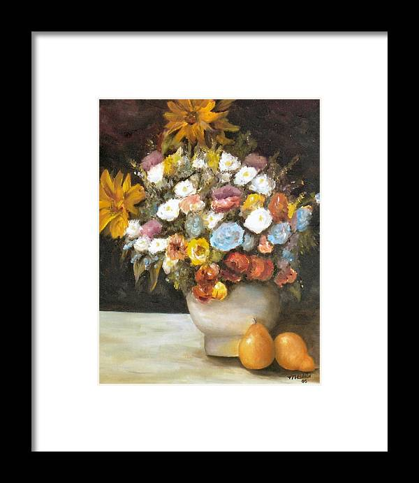 Flowers Framed Print featuring the painting Flowers After Renoir by Merle Blair