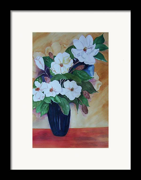 Floral Framed Print featuring the painting Flowers For The Table by Audrey Bunchkowski