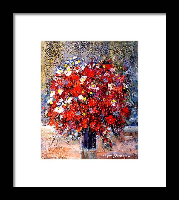 Artwork Framed Print featuring the painting Flowers For You by Maya Green