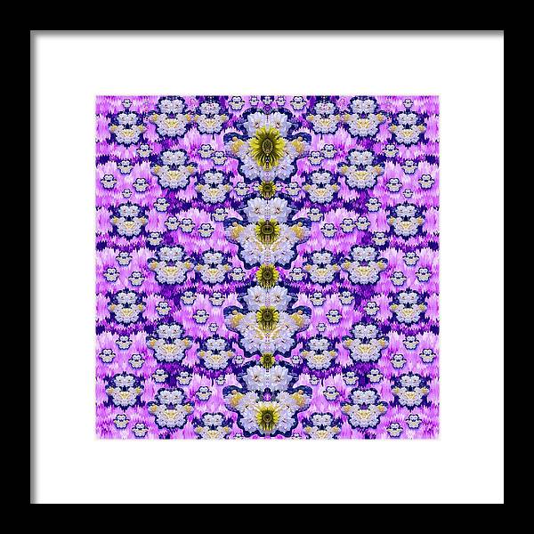 Flowers Framed Print featuring the mixed media Flowers From Sky Bringing Love And Life by Pepita Selles