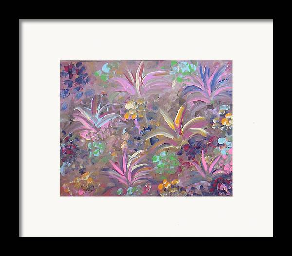 Landscape Framed Print featuring the painting Flowers In Spring by Lindsay St john