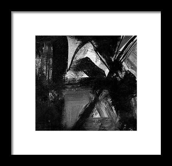 Abstract Still Life Flowers Framed Print featuring the painting Flowers In The Window by Marvin Cook