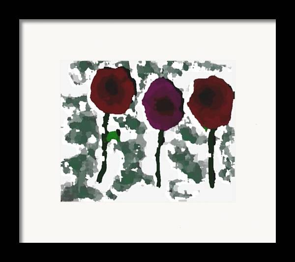 Flowers.love.happiness.gift.senses. Laughter Framed Print featuring the digital art Flowers Of Love by Dr Loifer Vladimir