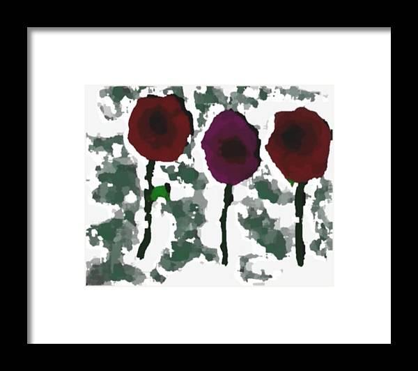Flowers.love.happiness.gift.senses. Laughter Framed Print featuring the digital art Flowers Of Love by Dr Loifer Vladimir