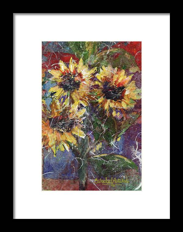 Sun Framed Print featuring the painting Flowers Of The Gods by Sole Avaria