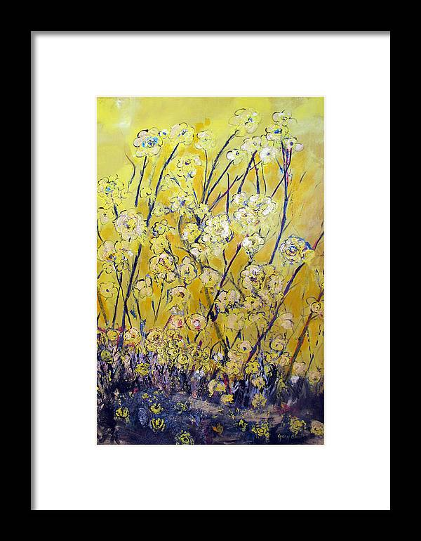 Flowers Framed Print featuring the painting Flowers Of The Sun by Gary Smith