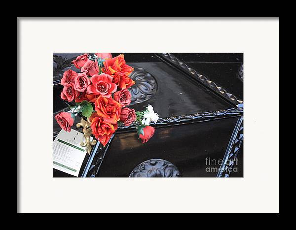 Italy Framed Print featuring the photograph Flowers On Gondola In Venice by Michael Henderson