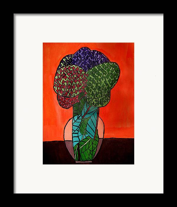 Flowers Framed Print featuring the painting Flowers by Sean Cusack