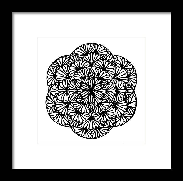 Flowery Seed Of Life Framed Print